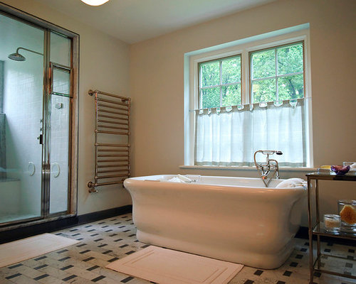 Inspiration For A Timeless White Tile Bathroom Remodel In Philadelphia