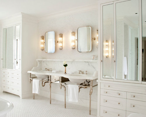 Traditional Bathroom Idea In Vancouver With A Console Sink