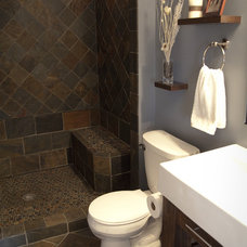 Contemporary Bathroom by Simply Beautiful Remodeling, LLC