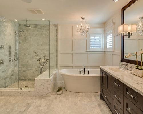 salle de bain avec un plan de toilette en granite photos et id es d co de salles de bain. Black Bedroom Furniture Sets. Home Design Ideas