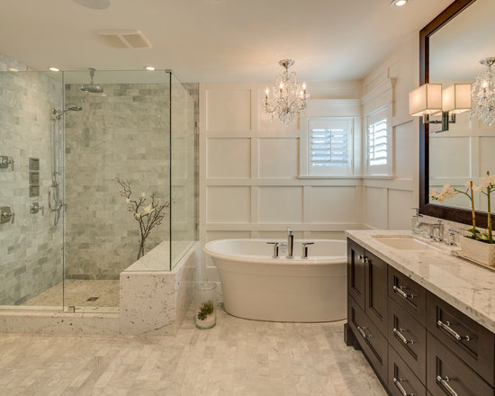 traditional master bathroom design ideas, remodels & photos