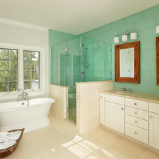 Transitional Bathroom by Buckhannon Brothers Tile