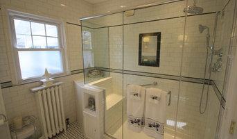 Newly expanded bathroom