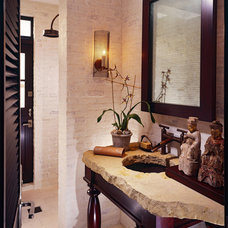 Tropical Bathroom by Sennikoff Architects