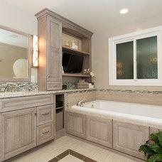 Beach Style Bathroom by Sea Pointe Construction