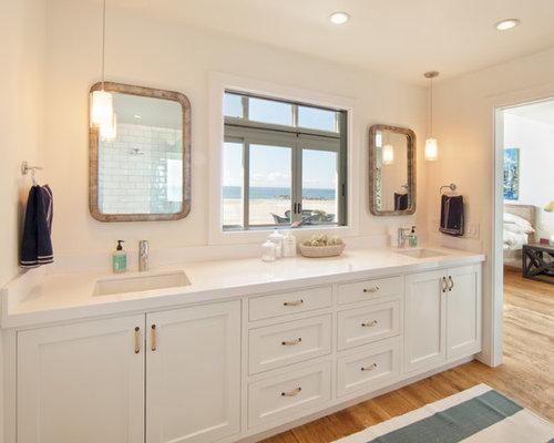 Best White Countertop Bathroom Design Ideas & Remodel Pictures | Houzz