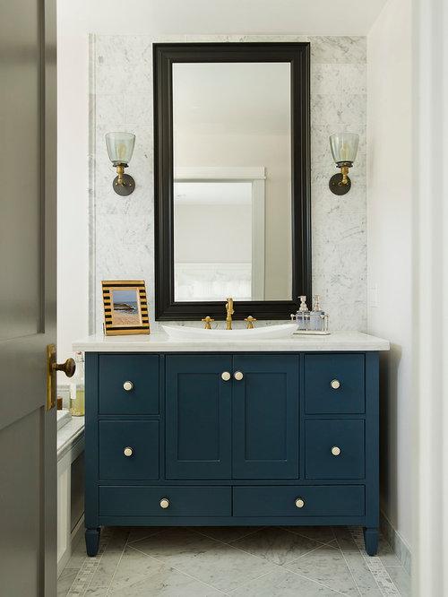 Navy Bathroom Design Ideas Remodels Photos