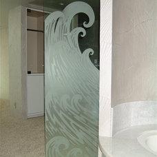 Beach Style Bathroom by Sans Soucie Art Glass