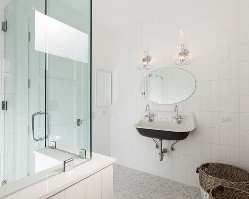 Orange County Bathroom Design Ideas Renovations Photos With A Wall Mount Sink