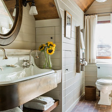 Farmhouse Bathroom by Williams & Spade Interiors, Inc