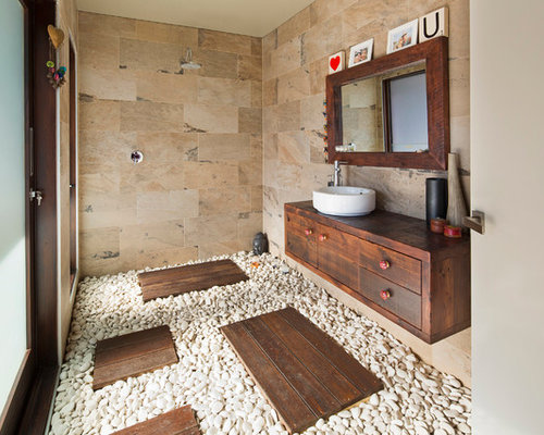 Best pebble tiles bathroom design ideas remodel pictures for Interior decoration using pebbles