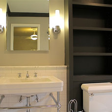 Transitional Bathroom by S Squared Design
