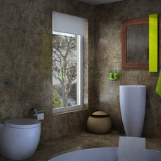 Modern Bathroom by WoodnGo