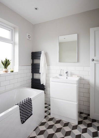 Scandinavian Bathroom by Hope Lucia Design