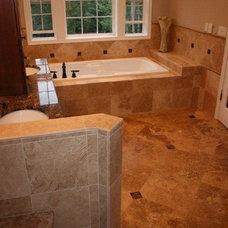 Traditional Bathroom by Rock Bottom Tile and Stone LLC