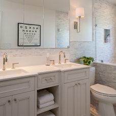 Traditional Bathroom by kathleen monroe design