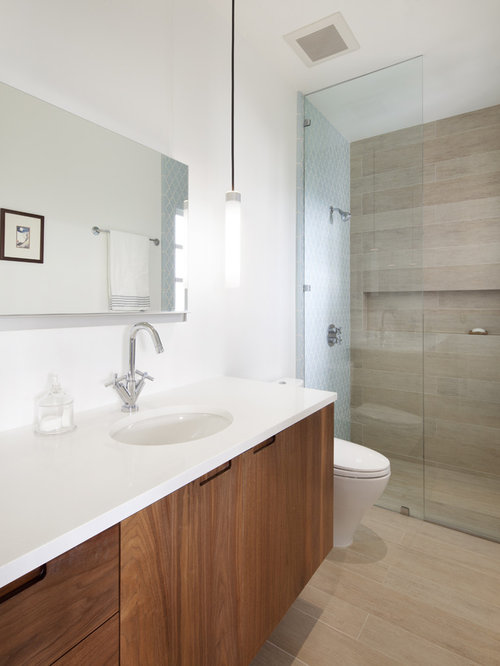 Wood Tile Shower | Houzz