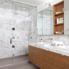 Modern Bathroom by Design Line Construction, Inc.