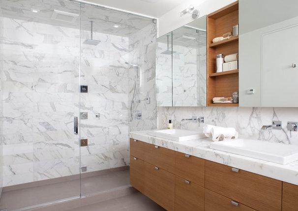 Modern Bathroom by Design Line Construction, Inc.