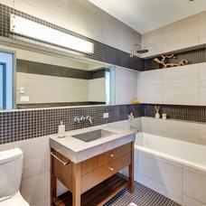 Contemporary Bathroom by Tatyana Design LLC
