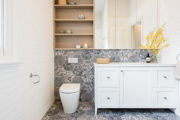 Transitional Bathroom by eat.bathe.live