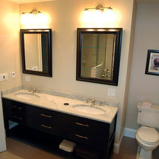 Transitional Bathroom by Punch Construction