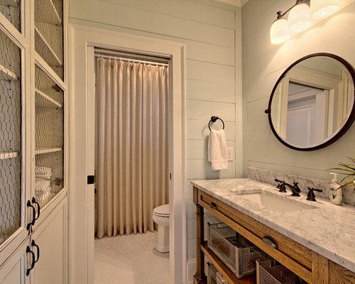 Country bathroom design ideas renovations photos with a for 2 piece bathroom ideas
