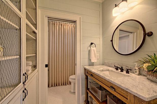 Elegant Farmhouse Bathroom by Craig Alan Homes Inc