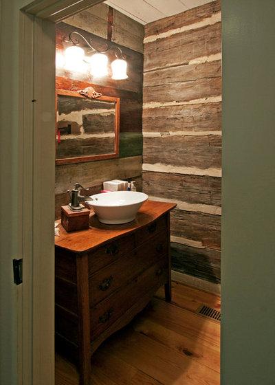 Superb Rustic Bathroom by Alan Clark Architects LLC