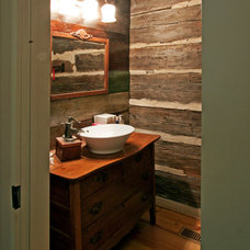 Rustic Bathroom by Clark & Zook Architects, LLC