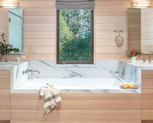 Vasca Da Bagno Rustica : Bagno con ante a persiana burlington foto idee arredamento