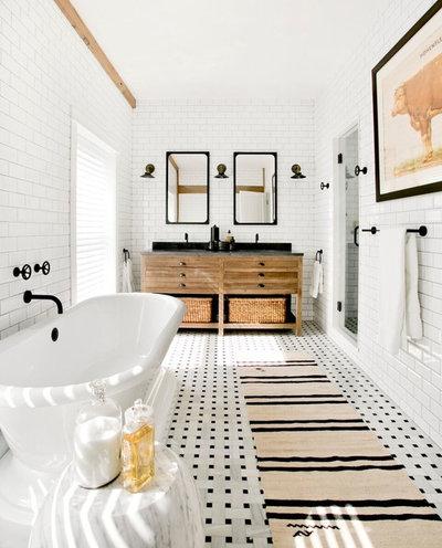 Cool Farmhouse Bathroom by Timothy Godbold Ltd