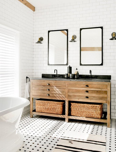 New Farmhouse Bathroom by Timothy Godbold Ltd