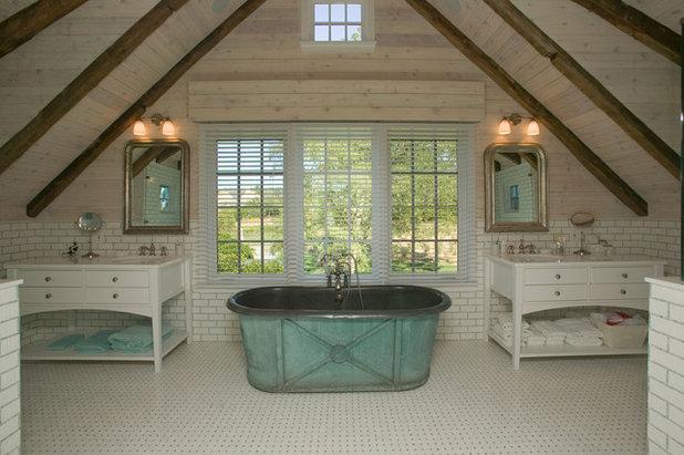 Farmhouse Bathroom by Vital Habitats
