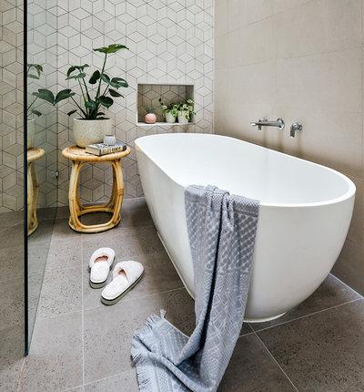 Contemporary Bathroom by Jasmine McClelland Design