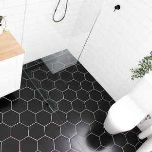 North Perth Bathroom Renovation - Black Hexagon