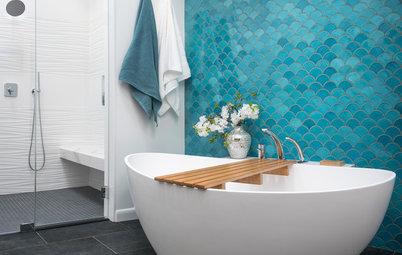 Custom Tile and Dream Vanity Storage Set This Bathroom Apart
