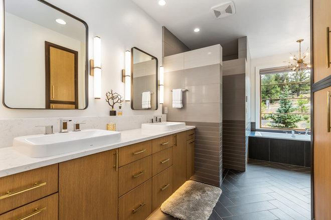 Contemporary Bathroom by Norman Building & Design