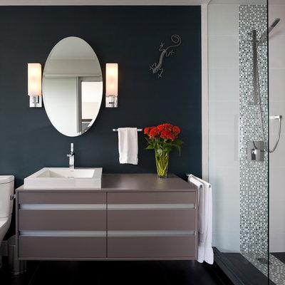 Trendy mosaic tile bathroom photo in Vancouver