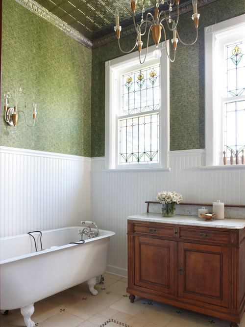 Tin wainscoting houzz for Examples of wainscoting