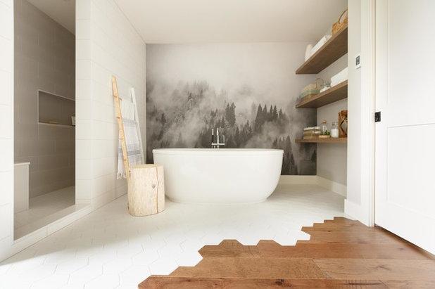 Eclettico Stanza da Bagno by Alex Dampsey Design