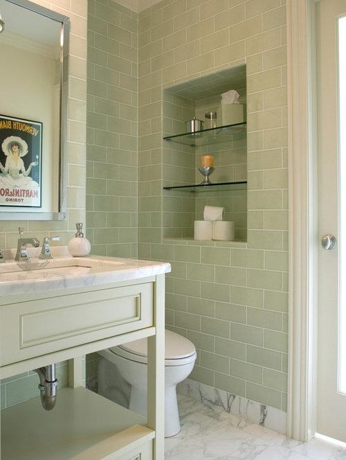 badezimmer mit gr nen fliesen und metrofliesen design ideen beispiele f r die badgestaltung. Black Bedroom Furniture Sets. Home Design Ideas