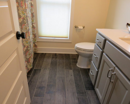 Awesome Inspiration For A Mid Sized Farmhouse 3/4 Linoleum Floor Bathroom Remodel  In Grand