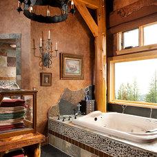 Rustic Bathroom by Superior Hardwoods of Montana