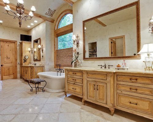 Example Of A Classic Freestanding Bathtub Design In Dallas
