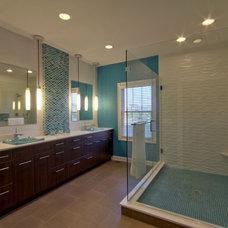 Transitional Bathroom by Wrightworks, LLC