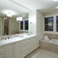 Traditional Bathroom by nicole helene designs