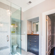 Transitional Bathroom by Thomson & Cooke Architects pllc