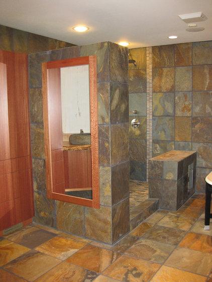 Eclectic Bathroom by Christine Suzuki, ASID, LEED AP
