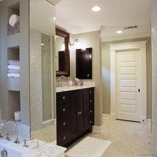 Traditional Bathroom by Sharon Flatley Design